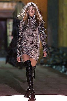 Roberto Cavalli Fall 2001 Ready-to-Wear Fashion Show - Carmen Maria Hillestad, Roberto Cavalli