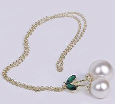 $0.91  78cm Silver Crystal Pearl Sweater Chain Necklace Jewelry Vintage Charms