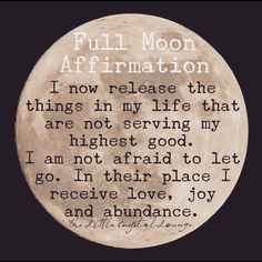What are you going to release this full moon? What are you going to release this full moon? More from my site Full Moon Affirmation. What are you going to release this full moon? Full Moon Tea, Full Moon Spells, Next Full Moon, Full Moon Ritual, Full Moon Phases, Full Moon Meaning, Full Moon Quotes, Full Moon Meditation, New Moon Rituals