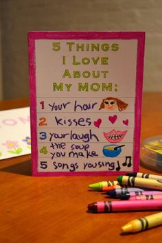 Printable Mother's Day Card For Kids | The Bird Feed NYC