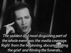 mine quote Black and White Marilyn Manson marilyn media speech Manson columbine