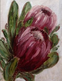 """Protea daily painting by Heidi Shedlock FREE POSTAGE worldwide for month . - Paintings and Art by Heidi Shedlock - Protea Art, Protea Flower, Watercolor Flowers, Watercolor Paintings, Watercolour, South African Art, 3d Rose, Guache, Acrylic Art"
