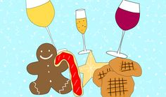 This Holiday Cookie And Wine Pairing Chart Is Your Key To Surviving The Season Wine Party Appetizers, Wine Parties, Wine And Cheese Party, Wine Tasting Party, Barefoot Wine, Sweet White Wine, Wine Guide, Party Scene, Holiday Cookies