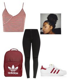 """Eh ❤️"" by queenb-676 ❤ liked on Polyvore featuring adidas and Topshop"