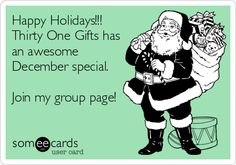 Happy Holidays!!! Thirty One Gifts has an awesome December special. Join my group page!  www.mythirtyone.com/organizewithmeredith