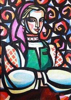 Gubarev A.I. :: Girl from Verkhovyna :: 1963,