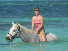 Horseback riding into the ocean!