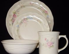 My dishes collection, I have service for 20+  still adding selective pieces.. I just love this set by: Pfaltzgraff ~ Tea Rose
