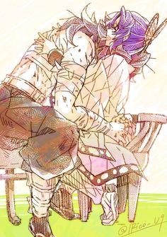 Anime Couples Manga, Cute Anime Couples, Anime Girls, Familia Anime, Dragon Slayer, Slayer Anime, Cute Anime Character, Anime Demon, Animes Wallpapers