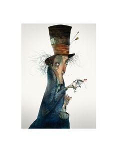 THE MAD HATTERFor ERSA FURNITURE 2016 calendar & notebook.Concept: Alice in Wonderland