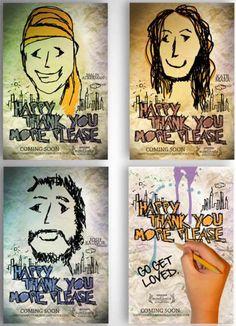 Happy, More, Thank You Please movie poster concept by FIDM Graphic Design Grad Angelica Raquid.