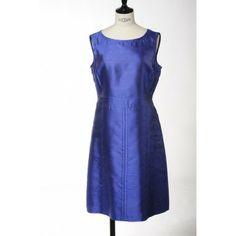 Blue silk dress by Strenesse »315240« - Elle-Mode Bergisch Gladbach