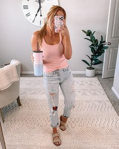 Mom Outfits, Cute Summer Outfits, Cute Casual Outfits, Spring Outfits, Fashion Outfits, Comfortable Outfits, Cooler Look, Spring Summer Fashion, Dress To Impress