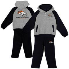 dd61d5370 Denver Broncos Infant Go Team Hoodie  amp  Pant Set - Ash Black NFL Shop