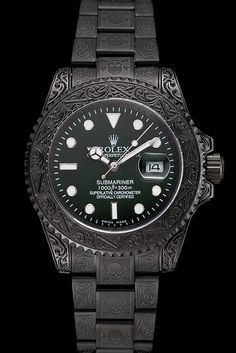Rolex Submariner Skull Limited Edition Green Dial All Black Case And Bracelet 1454076