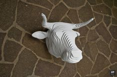Faux taxidermy, the cruelty free way to display your favorite animal on the wall. What better to give a taurus than a bull?