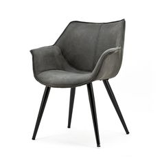 Stühle Armchair SAMUEL anthracite Dining chair Kitchen chair Upholstered chair Dinner chair Use the Tabulation of Your Photos You can get the opportun. Chair Upholstery, Upholstered Chairs, Chair Cushions, Dining Arm Chair, Dining Room Chairs, Desk Chairs, Office Chairs, Looks Vintage, Style Vintage