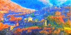 Der Castello di Montebello 120x60 cm Painting, Art, Art Background, Painting Art, Kunst, Paintings, Performing Arts, Painted Canvas, Drawings