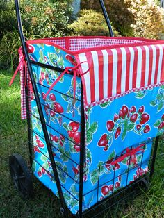 For my sister-in-laws for Cranfest in Warrens, Wisconsin. Shopping (Ya-Ya) Cart with a fully lined with bag from Modern June