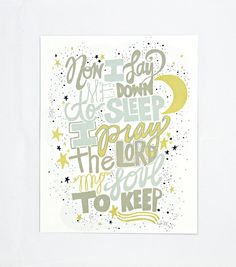 Child's Prayer 8 x 10 Print by thimblepress on Etsy, $12.00