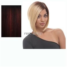 Janet Premium Synthetic Fiber Wigs Helen  - Color OET1B/BURG - Synthetic (Curling Iron Safe) Regular Wig
