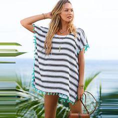 de3a8f06cf 2016 New V-Neck Tassel Sleeve Sexy Swimsuit Uk For Women Beach Cover Up  Swimwear Uk For Women Summer Style Plus Size Dress Beachwear
