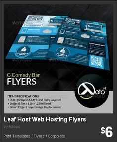 Leaf Host Web Hosting Flyers - Leaf Host is a company for you stable, reliable and affordable web hosting services elements are preserved vector image(the icons).