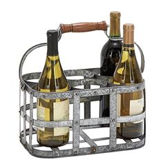 Deco 79 New Metal Wine Holder, 13 by 7-Inch *** See this awesome image  : Storage and Organization