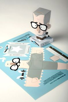 paper toy / The Paper Film Makers by Luis Vanegas, via Behance Origami Paper Art, 3d Paper, Paper Toys, Origami Toys, Origami Lamp, Paper Gifts, Cool Paper Crafts, Foam Crafts, Origami Templates