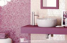 Bathroom, Beautiful Pink Bathroom Wall Tile Designs: The Timeless Bathroom Wall Tile Design Ideas Pink Bathroom Tiles, French Bathroom, Timeless Bathroom, Pink Tiles, Beige Bathroom, Bathroom Wall, Master Bathroom, Pink Bathrooms, Color Tile