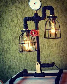 Doppia Gabbia #industrial #furniture #homedecor #interior #interiordecor #lamp #lamps #design #arredamento #casa #industrialdesign #vintage #antiques #lampada #lighting #lights #fashion #house #lampade #luxury #lampe #steampunk #pipelamps #pipes #plumbing by industriallamps