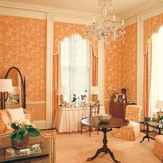 Master Dressing Room at The White House for Nancy Reagan, 1981 Interior Design History, Home Interior Design, Interior Architecture, Interior Decorating, Historic Architecture, Architectural Digest, Dressing Room Design, Dressing Rooms, Dressing Tables