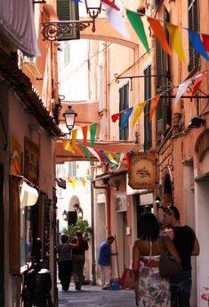 Via Corradi, old town, Sanremo