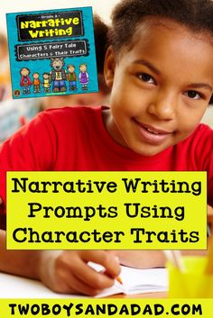 I created these narrative writing prompts in which students have to use the character traits of well-known fairy tale characters to write a new narrative.  It supports the 3rd Grade common core writing standard for narrative writing.  The resource also includes graphic organizers, mini-lessons for setting, plot, problem-solution and character traits identification.  Check out the PREVIEW NOW! #twoboysandadad #commoncorewriting #narrativewriting #3rdgrade