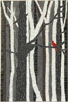 Mosaic: Little Red Bird