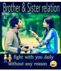 Tag-mention-share with your Brother and Sister 💜💛💚💙👍 Brother Sister Relationship Quotes, Brother Sister Love Quotes, Brother Birthday Quotes, Sister Quotes Funny, Brother And Sister Love, Your Brother, Funny Quotes, Qoutes, Sweet Sister Quotes