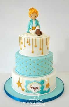 The Little Prince Cake by La torta perfetta Baby Cakes, Sweet Cakes, Cute Cakes, Prince Birthday Party, 1st Birthday Parties, Birthday Cake, Prince Party Favors, Special Birthday, Birthday Ideas