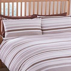 Ideal Bedding | Duvet Covers| Bedsheets | Pillowcase Pieridae Geo Striped Complete Duvet Quilt Bedding Cover, Pillowcase and Fitted Bedsheet Bedding Set