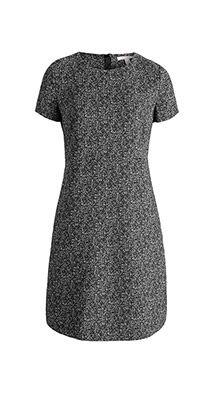 Esprit / Etuikjole med stretch og sort/hvid-print