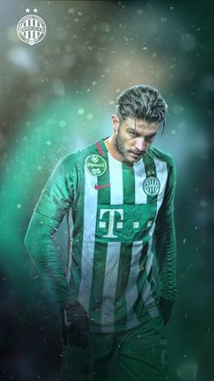 New desig for Ferencváros matchday content. The player is Djuricin. Football Soccer, Content, Sports, Fictional Characters, Design, Hs Sports, Excercise, Fantasy Characters, Sport