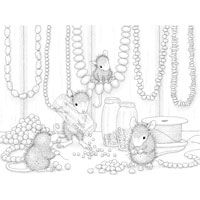 old fashioned halloween coloring pages | Stampendous - Cling Mounted Rubber Stamp - House Mouse ...