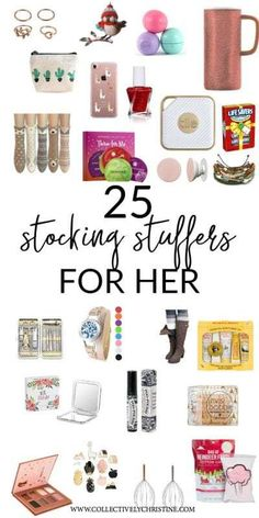 Weihnachten Fun and affordable stocking stuffer ideas for her! This list of 25 stocking stuffer idea Christmas Presents For Her, Teenage Girl Gifts Christmas, Homemade Christmas Gifts, Best Christmas Gifts, Holiday Gifts, Christmas Diy, Christmas Ideas For Her, Santa Gifts, Xmas Ideas
