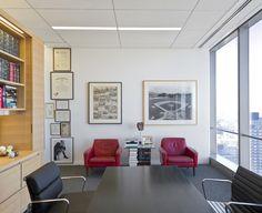 Light-filled partner office, Proskauer Rose (NYC)