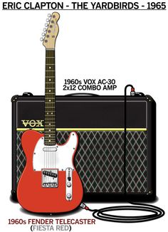 Buy a Poster of Eric Clapton's 1964 The Yardbirds Guitar Rig and Gear Setup