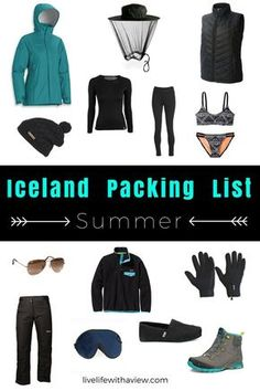 "Don't let the word ""summer"" fool you, Iceland doesn't get that warm! Make sure you have the right gear in your suitcase to make sure your summer trip in Iceland is the best! Iceland Packing List - What to Pack for a Winter Trip in Iceland Summer Packing Lists, Packing Tips For Travel, Suitcase Packing, Travel Ideas, Europe Packing, Traveling Europe, Vacation Packing, Travel Checklist, Travel Plan"