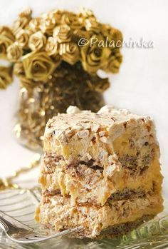 Torte Egyptian - this looks amazing.  Hazelnut layers stacked with vanilla pastry cream and hazelnut praline whipped cream.   Stretch my pastry skills and make this one for a birthday.  http://palachinkablog.com