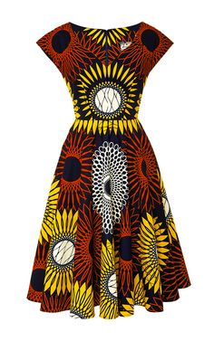 Sunflower Makeba Dress by Lena Hoschek for Preorder on Moda Operandi