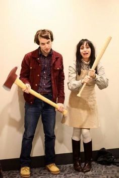 DIY Funny, Clever and Unique Couples Halloween Costume Ideas DIY-Paare Halloween-Kostüm-Ideen – Jack und Wendy – Scary The Shining Movie Characters Paare-Kostüm-Idee via Gurl Unique Couple Halloween Costumes, Diy Couples Costumes, Kids Costumes Girls, Hallowen Costume, Last Minute Halloween Costumes, Halloween Cosplay, Diy Costumes, Halloween Diy, Halloween 2017