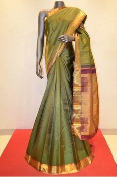 Bridal Wear Green Kanjeevaram Silk Saree Product Code: AA213860