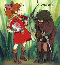 Arietty and Miyazaki Hayao Miyazaki, Secret World Of Arrietty, The Secret World, Secret Life, Studio Ghibli Art, Studio Ghibli Movies, Personajes Studio Ghibli, Howl's Moving Castle, Fanart
